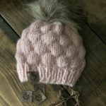 Chic Youngster Beanie knitted baby hat with fur pompom yarn2tog
