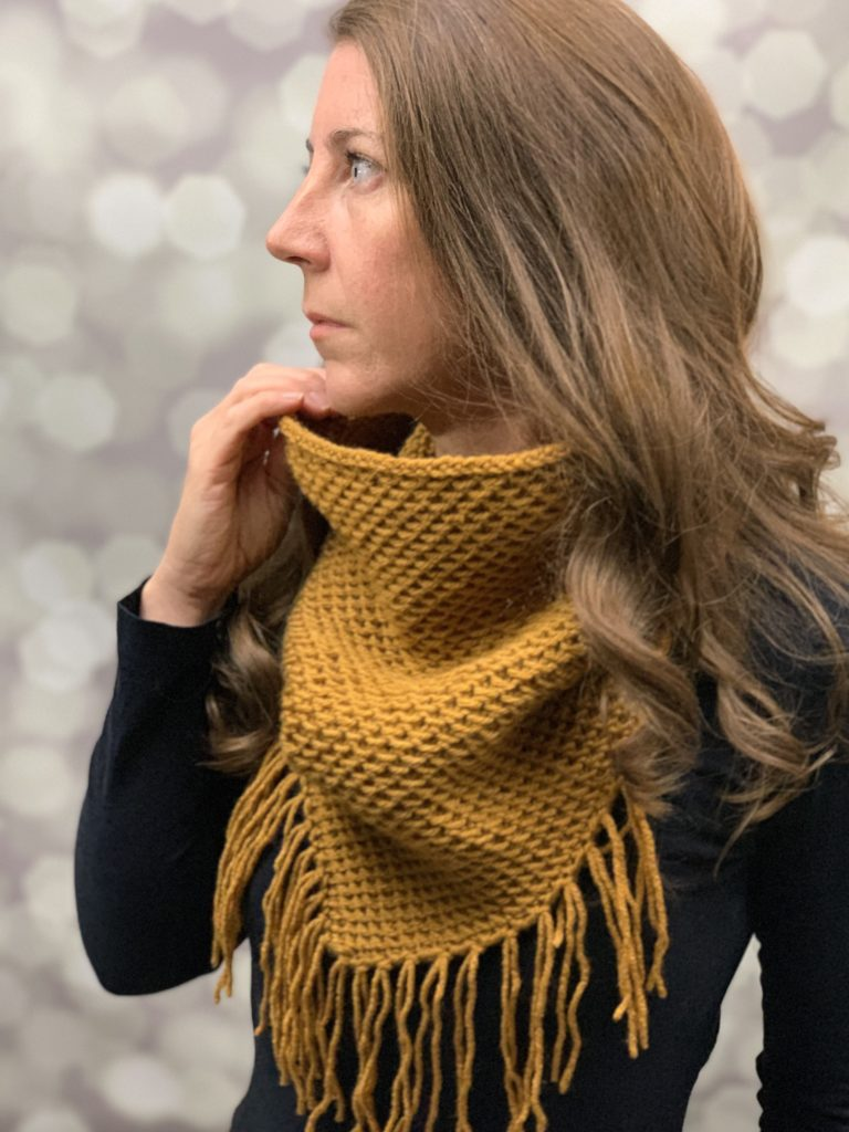 Corrina Cristine Yarn2tog crochet honey cowl
