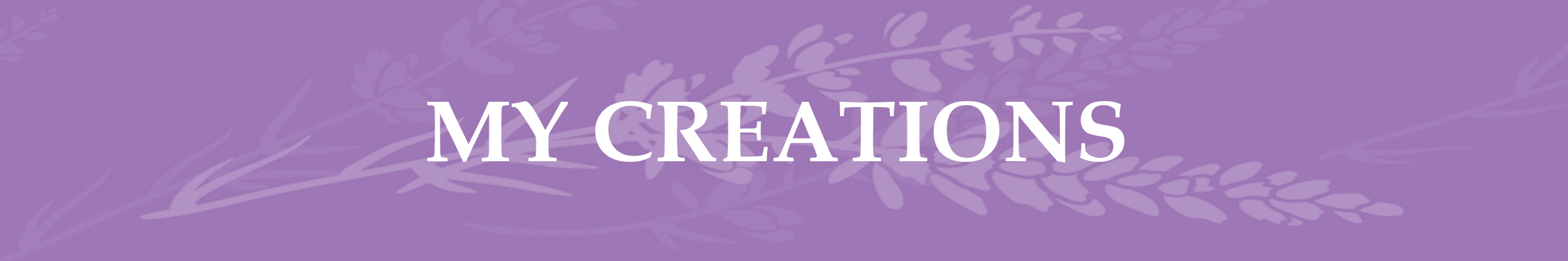 Lavender Page Header My Creations