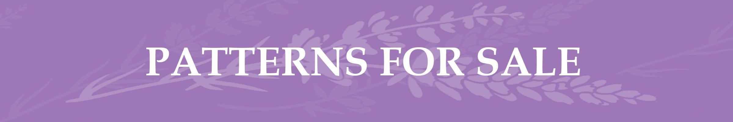 Lavender Page Header Patterns for Sale