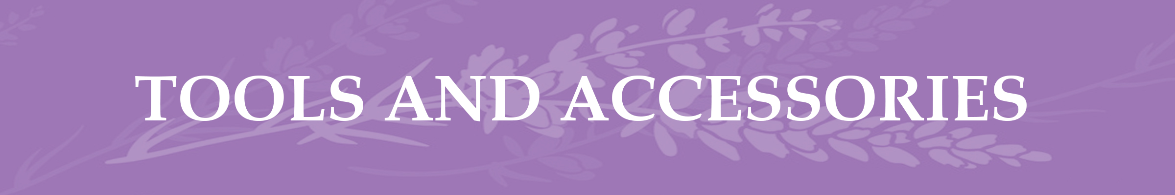 Lavender Page Header Tools and Accessories