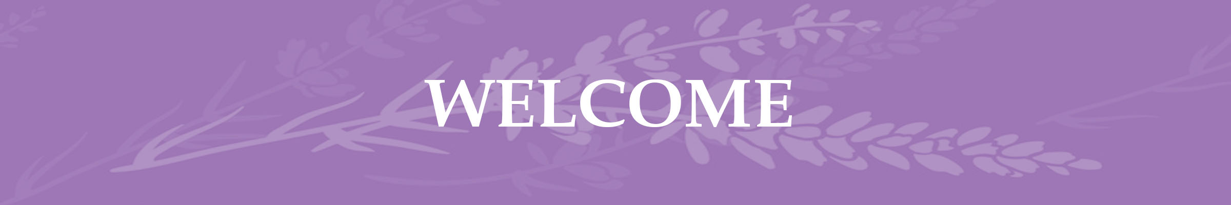 Lavender Page Header Welcome
