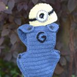 crochet minion baby hat and bottoms