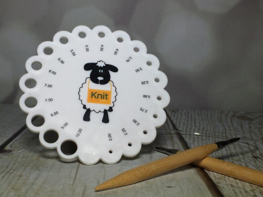 sheep knitting gauge ruler