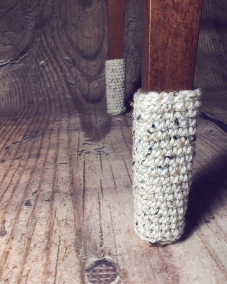 crochet chair socks free pattern