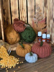 Scented Pumpkin Patch crochet pumpkins pattern