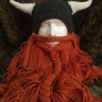 crochet man viking helmet beard