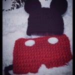 crochet mickey mouse baby hat and bottoms