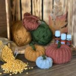 Scented Pumpkin Patch crochet pumpkins pattern wide angle